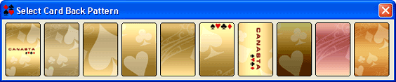 Canasta Card Back Selection