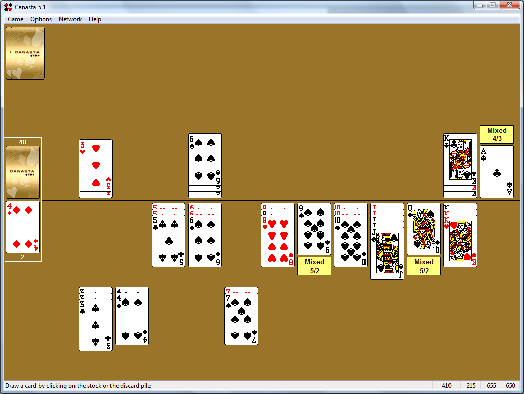 Canasta for Windows card game